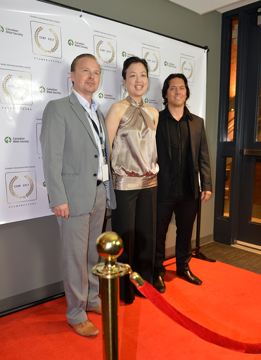 Lisa Pak with CIFF organizers, Jason Barbeck and Rafael Kalamat